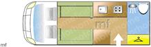 Elddis Elddis Autoquest Magnum GT 175 2020 Motorhome layout