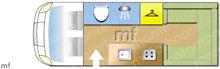 Used Swift FREESTYLE 580 PR Motorhome layout