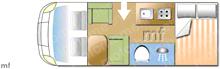 Used Dethleffs EUROSTYLE T57 Motorhome layout