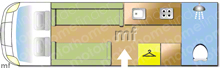 Autotrail Autotrial Tribute F60 2020 2020 Motorhome layout